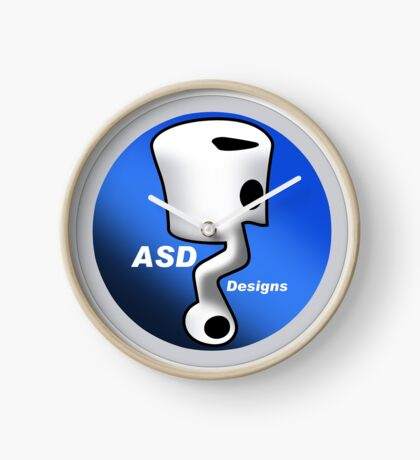 ASD Blue Logo Clock