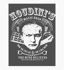 Houdini's Magic Shop (White) Photographic Print