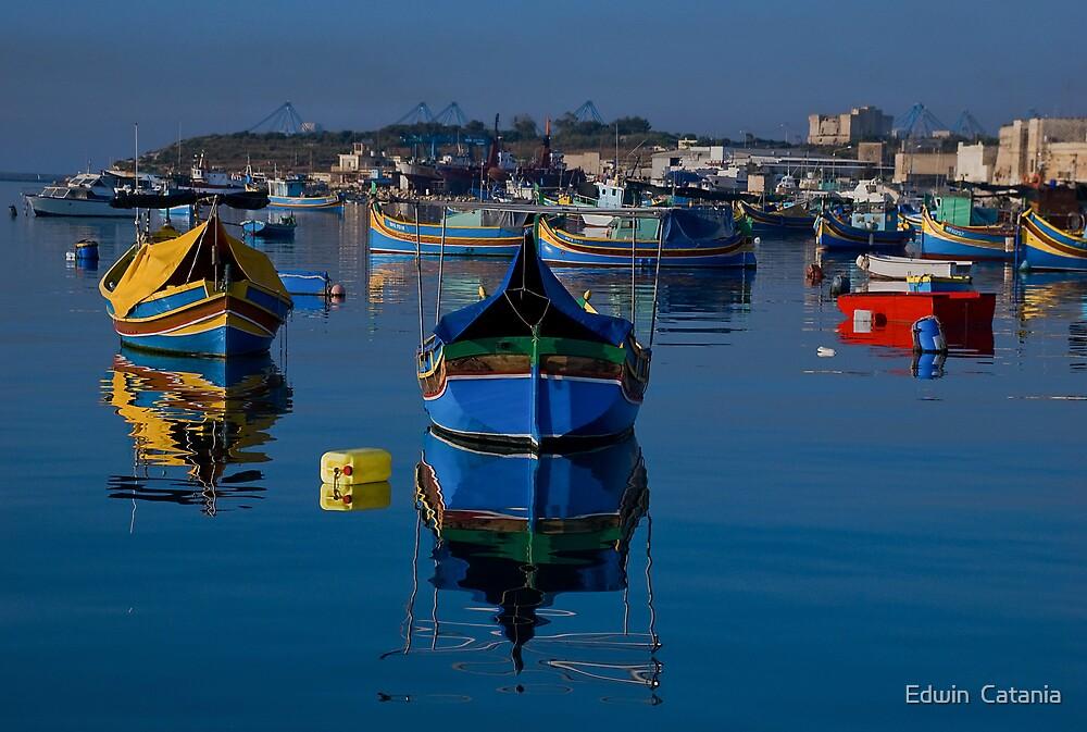 Boats by Edwin  Catania