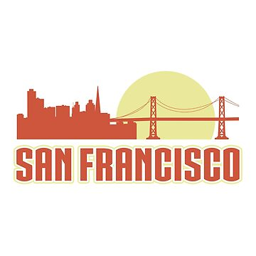 San Francisco T-Shirt. Travel Gift Ideas For Daughter/Son. by CatShirt