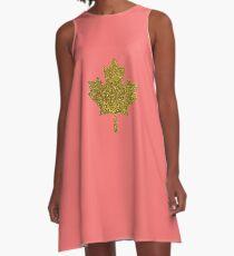 Golden Leaf A-Line Dress