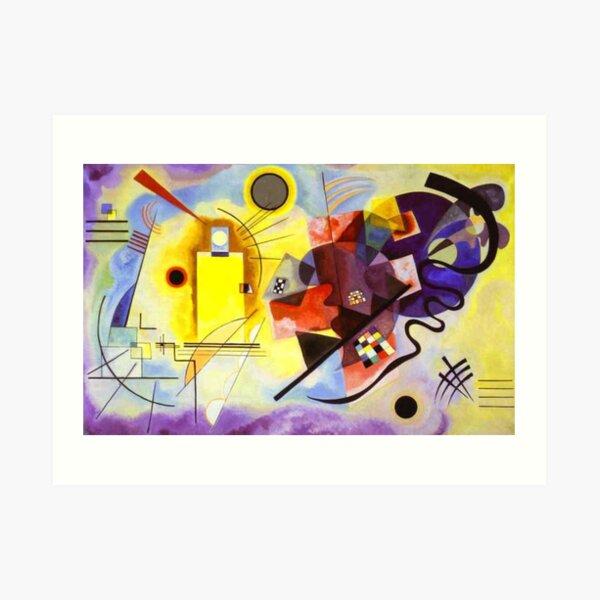 KANDINSKY. Wassily Kandinsky, amarillo, rojo, azul. Lámina artística