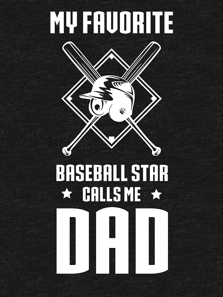 Father's Day Shirt From Baseball Player. Gift From Son. by FishShirt