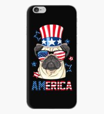 America Pug Dog Owner 4th of July iPhone Case