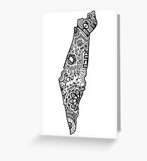 Hipster Israel Zentangle Grußkarte