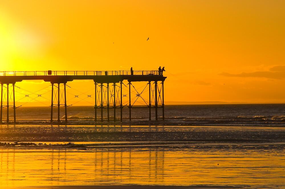 Saltburn Pier Sunset by Northern-Light