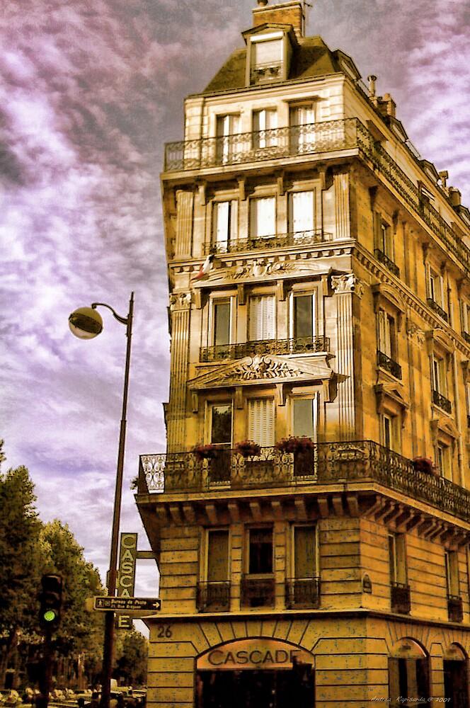 Golden light  in Paris by Andrea Rapisarda