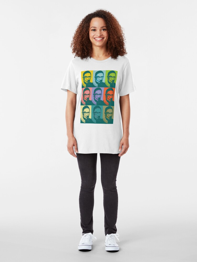 Alternate view of Notorious RBG for Spring Slim Fit T-Shirt