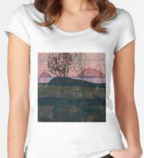 "Egon Schiele ""Setting Sun"" Women's Fitted Scoop T-Shirt"
