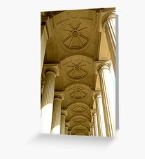 Colonade, Houses of Parliment, Victoria Greeting Card