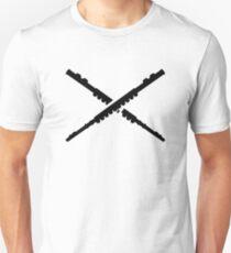 Crossed Flutes Unisex T-Shirt