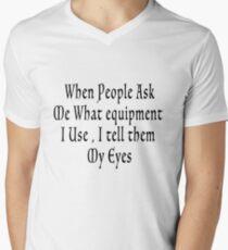 My eyes- blk Men's V-Neck T-Shirt