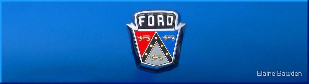 1951 Ford Emblem by Elaine Bawden