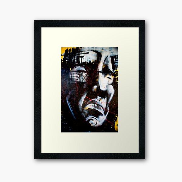 Angry Man Framed Art Print