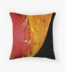 None are Perfect (CARD) Throw Pillow