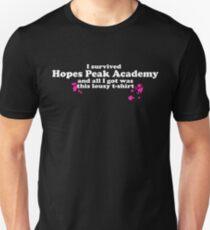 I Survived Hopes Peak Academy (Light Font) Unisex T-Shirt