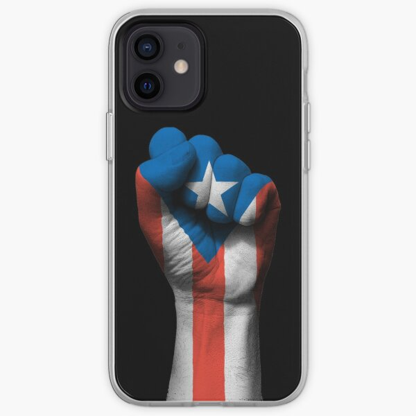 Flag of Puerto Rico on a Raised Clenched Fist  iPhone Soft Case