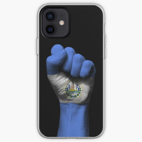 Flag of El Salvador on a Raised Clenched Fist  iPhone Soft Case