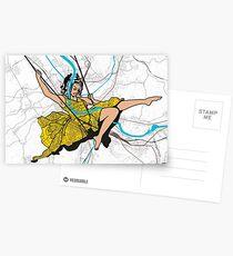 Basel Citymap Artwork | ESCARPOLETTE Postkarten