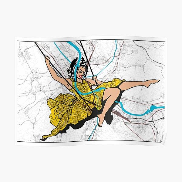 Basel Citymap Artwork | ESCARPOLETTE Poster