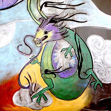 Cloud Dragon (from Chalk Meditation #11) by InfinitePathArt