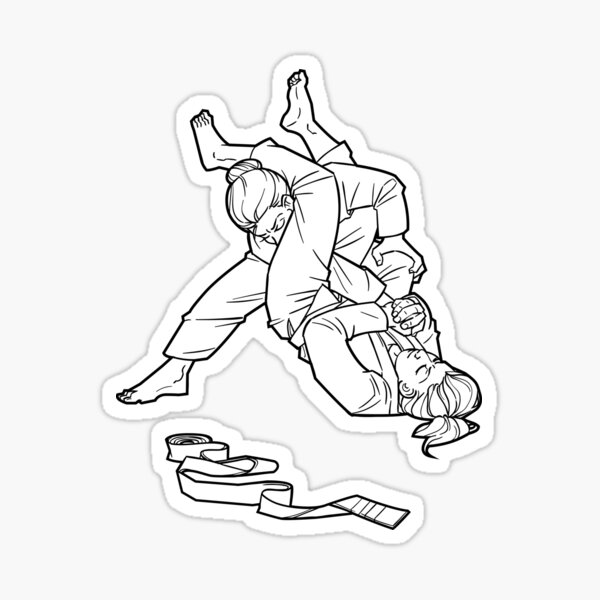 Women Grappling Armbar Shirt Sticker