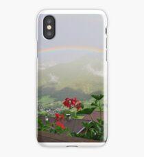 Rainbow over Austrian Alps iPhone Case