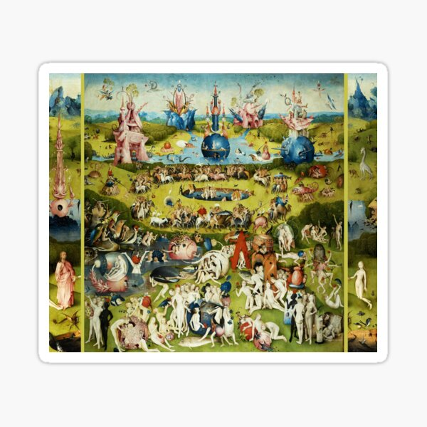 Garden of Earthly Delights , Paradise by Hieronymus Bosch Sticker