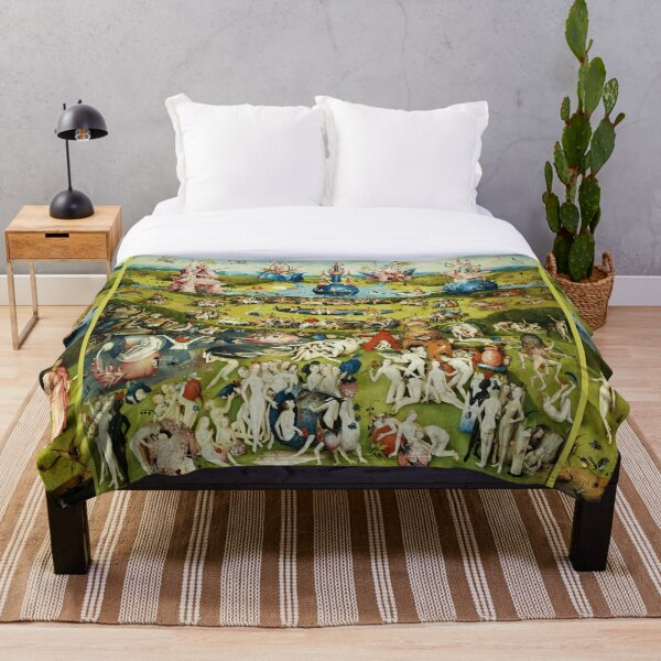 Garden of Earthly Delights , Paradise by Hieronymus Bosch Throw Blanket