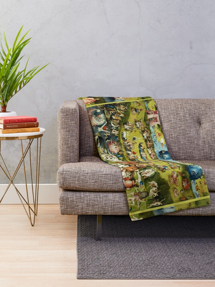 Alternate view of Garden of Earthly Delights , Paradise by Hieronymus Bosch Throw Blanket