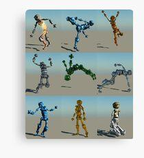 Robot Screen Test Canvas Print
