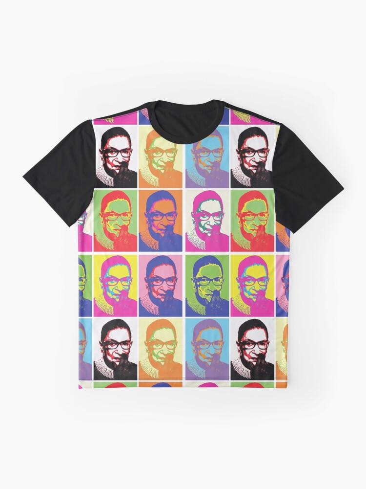 Alternate view of Notorious RBG - Pop Art Blast Graphic T-Shirt