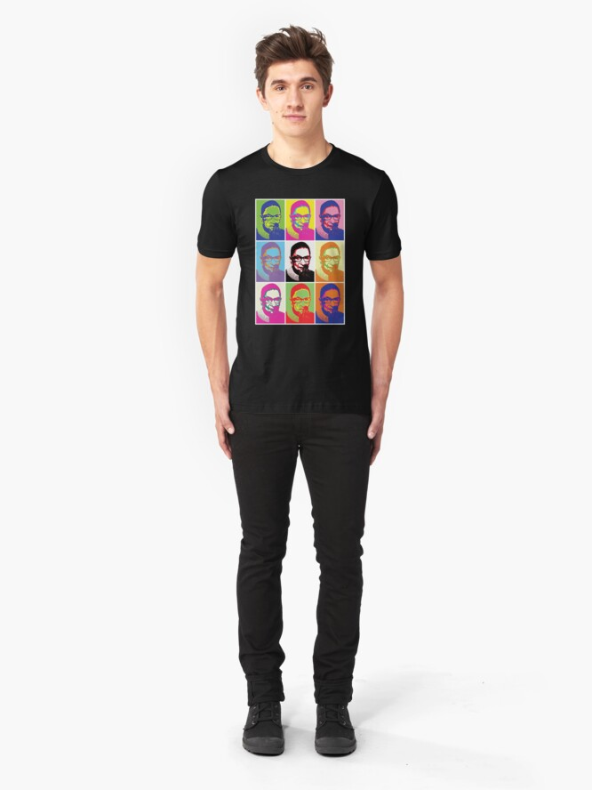 Alternate view of Notorious RBG - Pop Art Blast Slim Fit T-Shirt