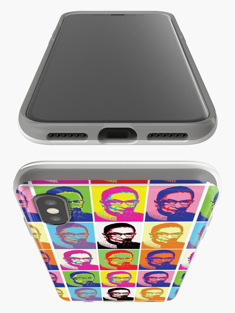 Alternate view of Notorious RBG - Pop Art Blast iPhone Case & Cover