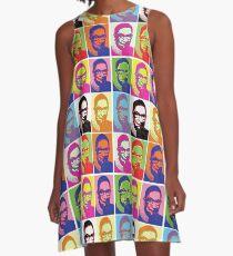 Notorische RBG - Pop Art Explosion A-Linien Kleid