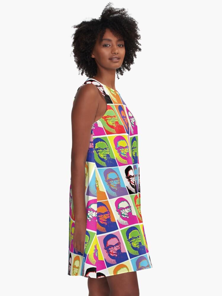 Alternate view of Notorious RBG - Pop Art Blast A-Line Dress