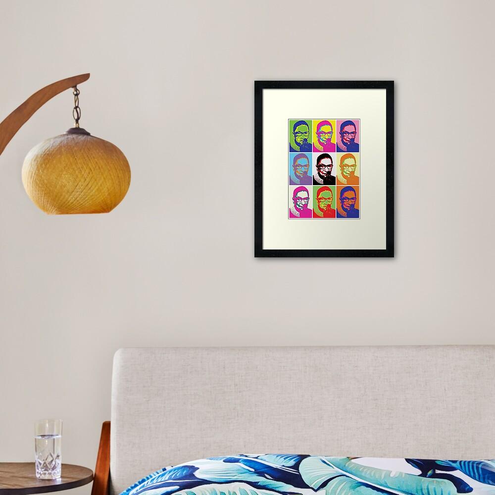 Notorious RBG - Pop Art Blast Framed Art Print