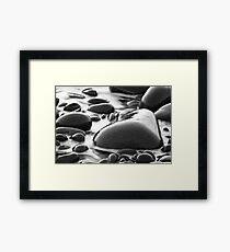 Heart shaped pebble Framed Print