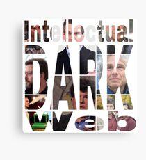 Intellektuelle dunkle Web-Gesichter Metallbild