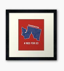 Red For Ed Washington Teachers Framed Print