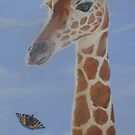 Butterfly meets Giraffe by Andy  Housham