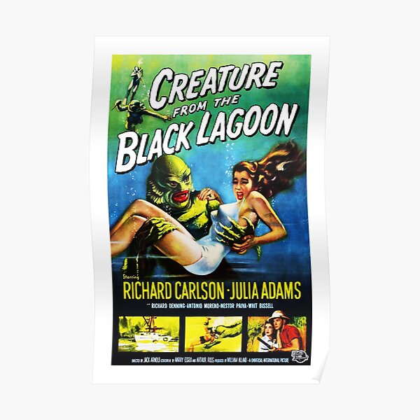 Creature from the Black Lagoon (1954) Remastered USA Poster Poster