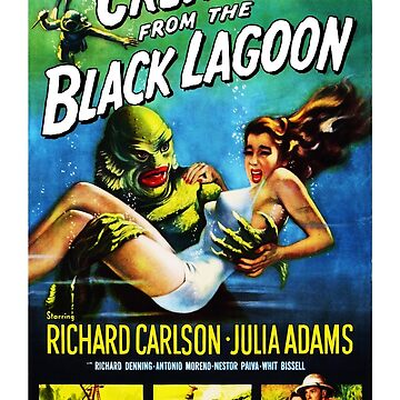 Creature from the Black Lagoon (1954) Remastered USA Poster by Purakushi