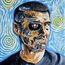 My Van Gogh/T-800 self portrait by OscarEA