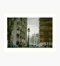 Twisted reflections of Canal St Martin, Paris Art Print