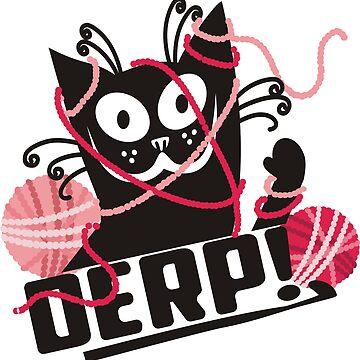 Funny derp cat crochet hooks yarn by BigMRanch