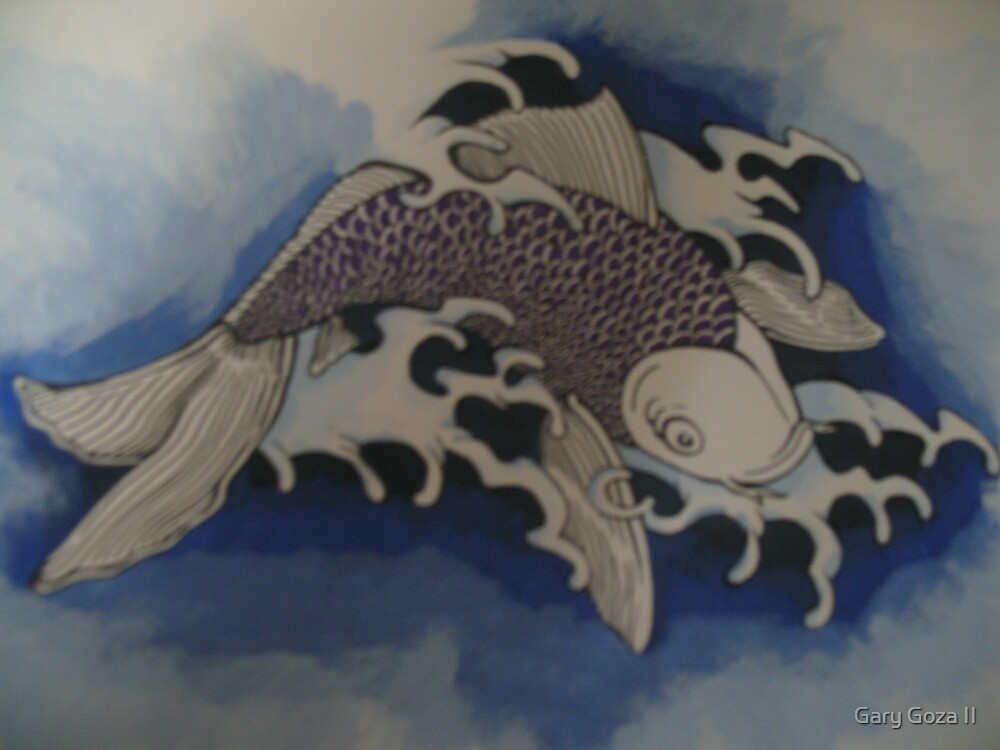 Blue Koi. by Gary Goza II