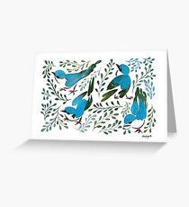 Birds in summer Greeting Card