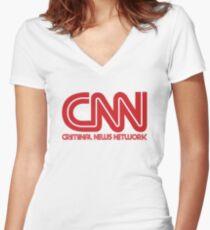 CNN - Criminal News Network Women's Fitted V-Neck T-Shirt