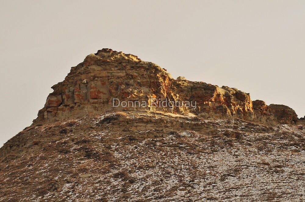 Priest Butte, Setting Sun by Donna Ridgway